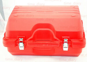 New Red Color Hard Carrying Case For Leica Tps Tcr300 400 700 800 Total Station