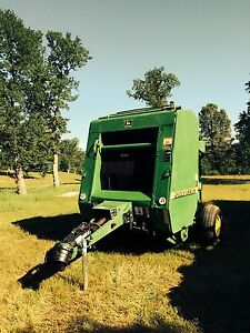 Used 1999 John Deere 456 Round Hay Baler New Belts 540 Pto Green