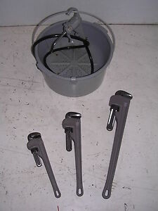 Bucket Oiler 3 Aluminum Pipe Wrenches 4 Rothenberger Collins Pony Pipe Threader