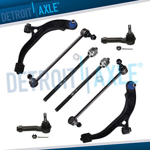 8pc Front Lower Control Arm Tie Rod Kit For Plymouth Voyager Dodge Grand Caravan
