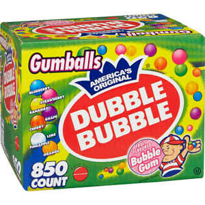 Dubble Bubble gumballs 1 In Diameter Variety Pack 850ct
