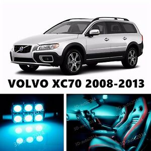 14pcs Led Ice Blue Light Interior Package Kit For Volvo Xc70 2008 2013