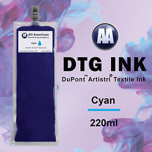 Dtg Ink Cyan 220ml Dupont Textile Ink For Direct To Garment Printer Best Price