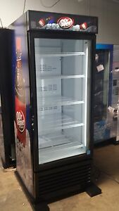 Single Door Reach In Cooler Refrigerator Brand New 27 Cu Dr Pepper