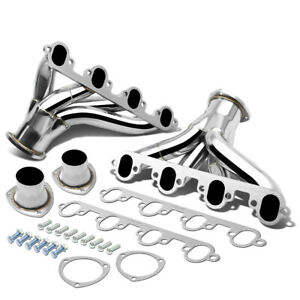 Fit 429 460 Ford Bbc Big Block Stainless Shorty Hugger Header Exhaust Manifold