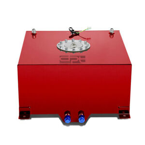 10 Gallon 38l Lightweight Red Coat Aluminum Race Fuel Cell Tank Level Sender