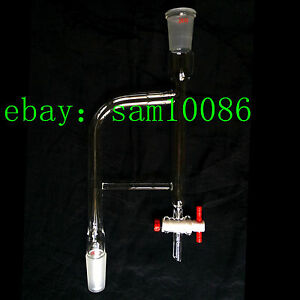Glass Distillation Receiver dean Stark Adapter 10ml 24 40 ptfe Stopcock labglass