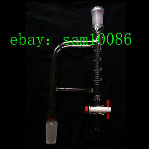 Glass Distillation Receiver dean Stark Adapter 15ml 24 40 ptfe Stopcock labglass