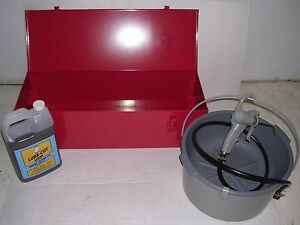Metal Case Bucket Oiler Oil Ridgid 700 Powerpony Pipe Threader 12r Diehead 1 2 2