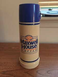 Vintage Maxwell Coffee House Hot / Cold Coffee Tea Thermos