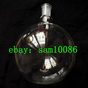 2000ml Single Neck Round Bottom Flask heavy Wall joint 24 40 lab Flask rb 2lrbf