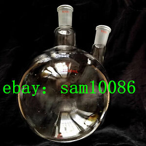 2000ml Two 2 Neck Round Bottom Flask joint 24 40 lab Flask rb 2l rbf