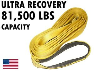 6 X 16 Double Ply Recovery Strap Heavy Duty Tow Auto Firefighter Lift Pull