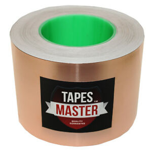 4 X 55 Yds 100mmx50m Copper Foil Tape emi Conductive Adhesive ship From Usa