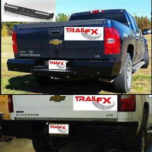 Fx1002 Trail Fx Heavy Duty Rear Bumper Black For 2008 Chevy Silverado Hd Trailfx