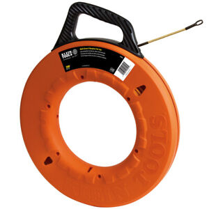 Klein Tools 56056 200 Multi groove Fiberglass Fish Tape New free Shipping