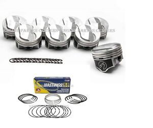 Chevy 7 4 454 Speed Pro Hypereutectic Coated 22cc Dome Pistons Moly Rings 060