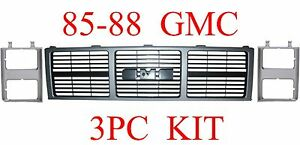 85 88 Gmc Truck 3pc Grill Head Light Door Kit Jimmy Suburban Gm1200401