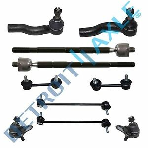 Front Rear Sway Bars Inner Outer Tierods Ball Joints For 2001 2005 Toyota Rav4