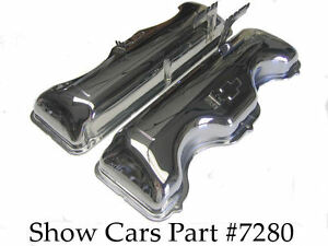 1963 1964 Valve Covers 409 Chevy Chevrolet Impala Ss Bel Air With out Drippers
