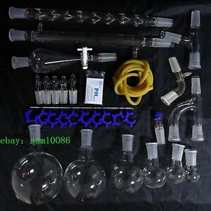 New Lab Glassware Kit 1000 organic Chemistry Laboratory Unit 24 40 free Shipping