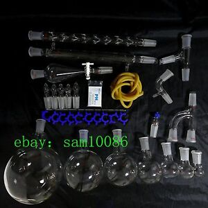 New Lab Glassware Kit 2000 organic Chemistry Laboratory Unit 24 40 free Shipping