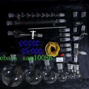 New Lab Glassware Kit 1000 organic Chemistry Laboratory Unit 24 29 free Ship