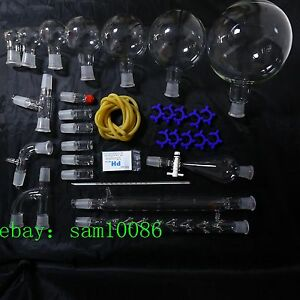 New Lab Glassware Kit 2000 organic Chemistry Laboratory Unit 24 29 free Shipping