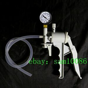Lab Hand Held Vacuum Pump handle Vacuum Pressure Suction Pump max 550mm Hg new