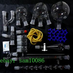 1000 new Organic Chemistry Laboratory Unit 24 29 lab Glassware Kit free Shipping