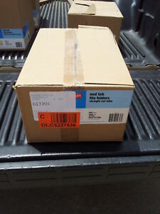 New Staples 613394 Legal Size End Tab File Folders Straight Cut Qty 250