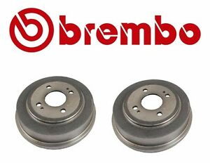 Pair Set Of Rear Left Right Civic Brake Drums Brembo For Honda Civic Accord