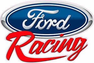 Ford Racing Script Decal 12 X 8 Free Shipping