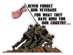 Never Forget Our Veterans For What They Have Done For Our Country Decal 16
