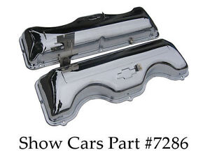 64 65 Chrome Valve Covers 409 Chevy Chevrolet Impala Bel Air Without Drippers