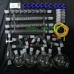 Lab Glassware Kit organic Chemistry Laboratory lab Chemistry new Free Shipping