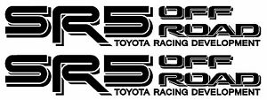 4runner Sport Rally 5 Speed Off Road Toyota Tacoma Tundra Sr5 Pair Of Decals