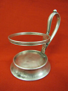 Imperial Russian 84 Silver S Peterburg Boianowski Glass Holder Dated 1885