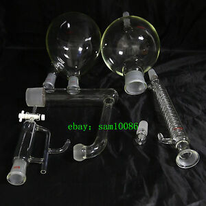 Essential Oil Steam Distillation Kit graham Condenser all Glassware lab chem