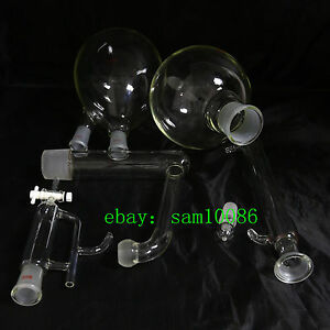 Essential Oil Steam Distillation Kit liebig Condenser all Glassware new Lab Chem