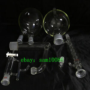 Essential Oil Steam Distillation Kit allihn Condenser all Glassware new Lab chem