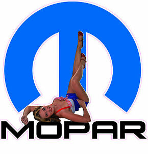 Mopar Big M Pin Up Decal 5 In Size Free Shipping