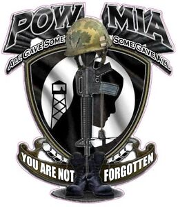 Pow Mia You Are Not Forgotten Decal 5 X 4 5