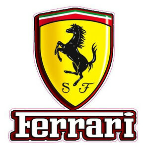 Ferrari Emblem Decal 5 X 4