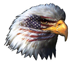 The American Flag Eagle Head Decal 5 Free Shipping