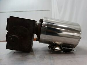 Sterling Electric Washdown Motor 3 4hp 208 230 460v W hub City Reducer Ratio 60