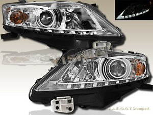Fit For 2010 2012 Chrome Housing Lexus Rx350 Projector Headlights W Led Strip
