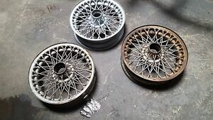 2 Unrestored Wire Wheels Triumph Tr2 Tr3 Tr4 Tr250 Tr5 Tr6