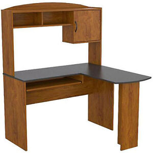 Mainstays L Shaped Desk With Hutch Multiple Finishes Table Black Alder New
