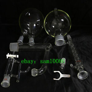 Essential Oil Steam Distillation Kit allihn Condenser all Glassware s35 Clip lab